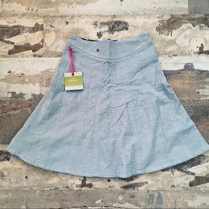 NWT corduroy soirée blue skirt by down east basics